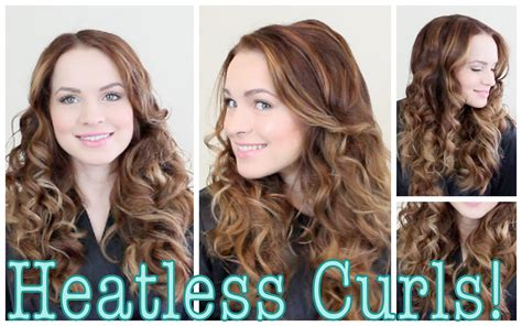 heatless hairstyles for frizzy curly hair easy heatless curls tutorial youtube