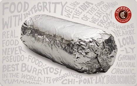 Chipotle Gift Card Deal - chipotle gift cards review