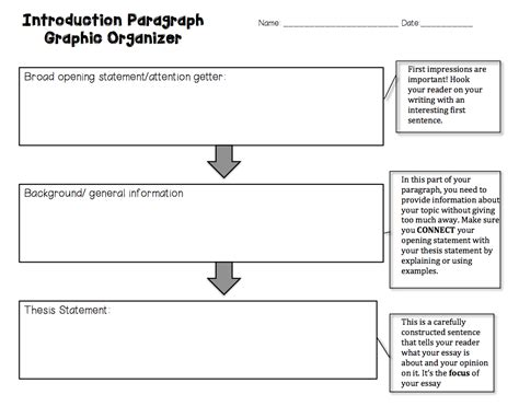 5 paragraph biography graphic organizer introductory paragraph graphic organizer and how to write