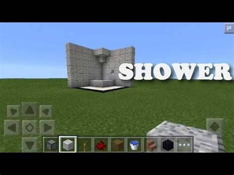 How To Make A Shower On Minecraft Pe by Minecraft Pe Shower On And Shower Redstone