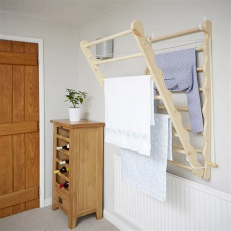 beadboard drying rack uk wall mounted wooden clothes airer pine