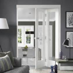 Bifold Glass Doors Pattern 10 White Bifold With Clear Safety Glass Bi Fold Doors