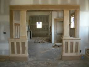 interior home columns craftsman trim ontario park bungalow interior