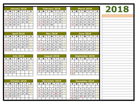 how to make a yearly calendar in excel 2010 2018 calendar excel template one page monthly yearly