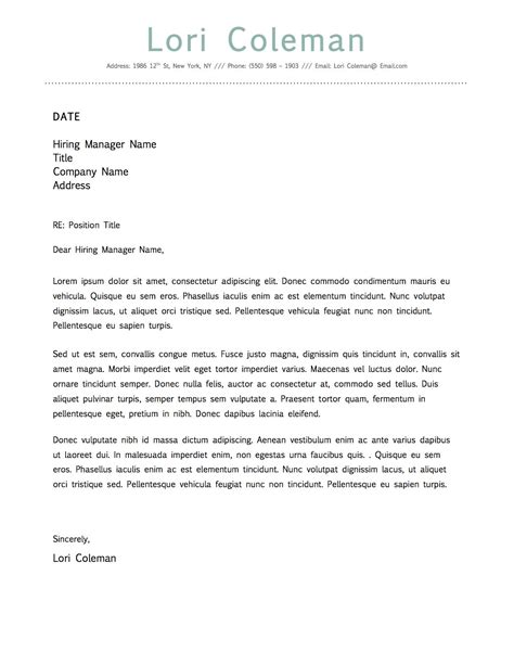Microsoft Word Cover Letter Template by Simple Beautiful Cover Letter Template For Microsoft Word