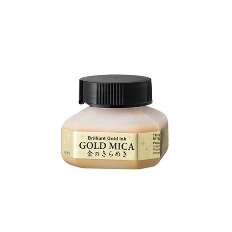 Tinta Gold Ink Tusz Kuretake Gold Mica Ink 60 Ml Ba3016 Tinta Dla Plastyk 243 W