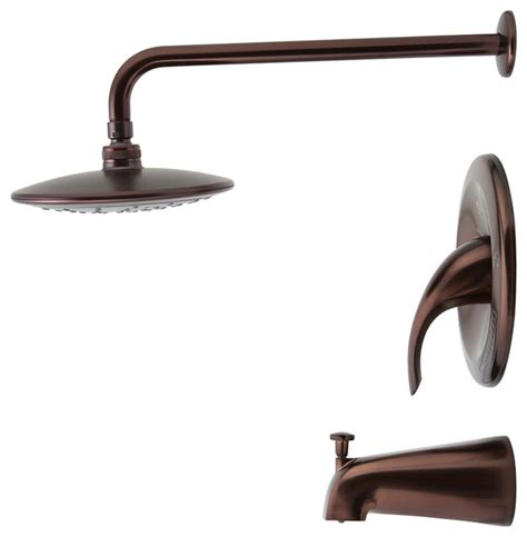 3 showerhead set rubbed bronze