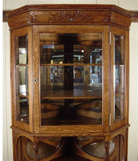 glass mirrored china cabinet oak beveled glass corner china cabinet with oval beveled