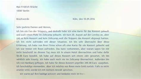 Reklamation Brief Beispiel goethe zertifikat b2 pr 252 fung beschwerde brief beispiel