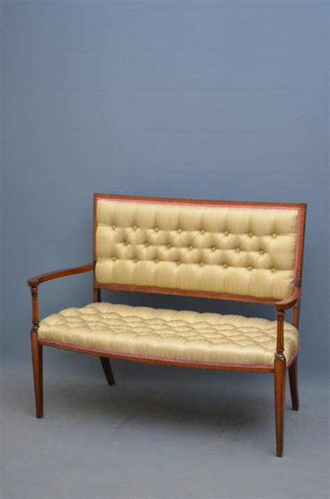 edwardian couch elegant edwardian mahogany and inlaid sofa antiques atlas
