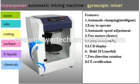 automatic paint color mixing machine gyro chemical liquid mixer auto perfume agitator