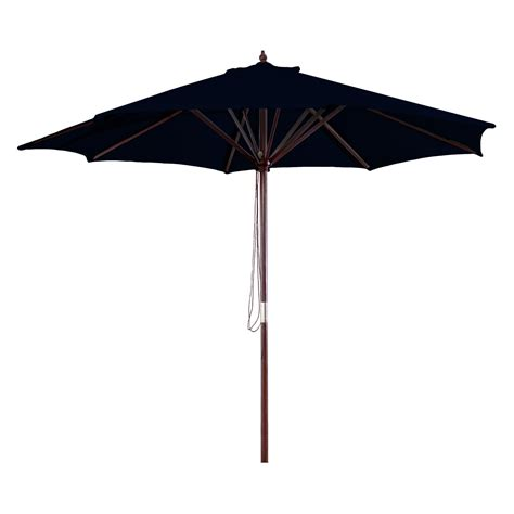 Wood Patio Umbrella Manufacturing 9 Ft Wooden Market Umbrella Patio Umbrellas At Hayneedle