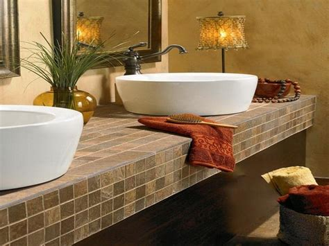 Bathroom Tile Countertop Ideas | bathroom countertops top surface materials
