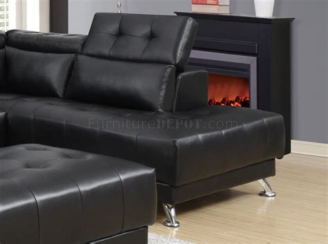 black bonded leather sectional u8859 sectional sofa in black bonded leather by global w