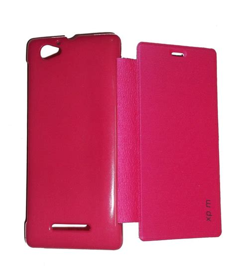 Flip Cover Sony Experia M jma flip cover for sony xperia m c1904 c1905 pink flip