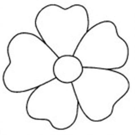 flores de 5 petalos para imprimir petalos de flor para colorear imagui
