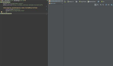 android studio layout params can t display custom view in android studio layout editor