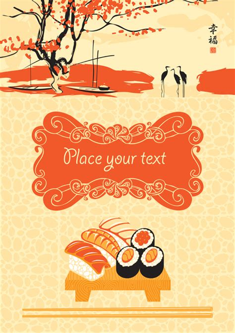 menu design eps file sushi menu cover design vector 04 vector cover free download