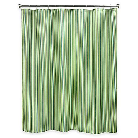 green striped shower curtain buy bacova sea stripe shower curtain in green blue from