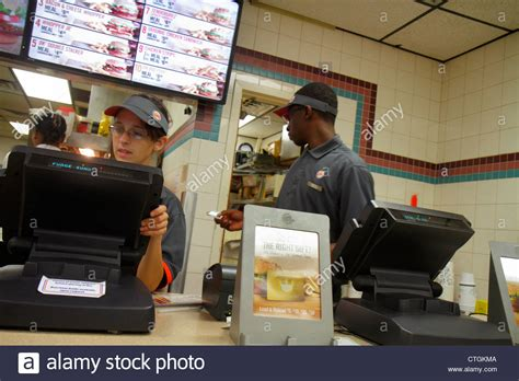 port st florida burger king fast food restaurant counter stock photo royalty free image