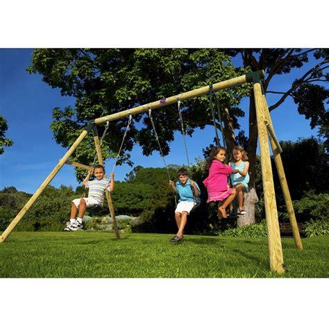 colobus swing set colobus wooden swing set plum product at sttswings