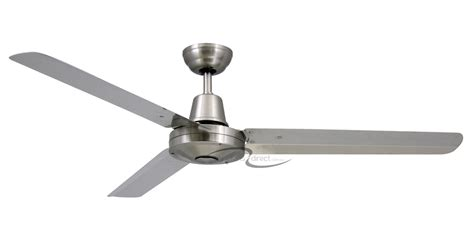 stainless steel outdoor ceiling fan vortex 316 stainless steel 3 blade 52 quot marine grade