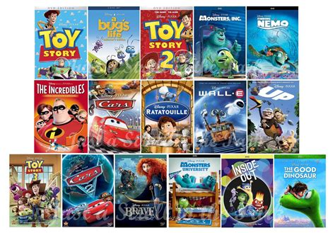 film up complet disney pixar complete 16 movie collection toy story nemo