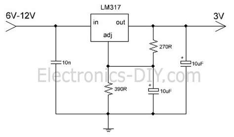 3v power supply circuit diagram optional 12v to 3v voltage regulator signal processing