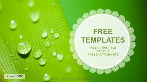 free ppt template droplets nature ppt templates free