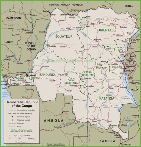 political map of the republic political map of democratic republic of the congo