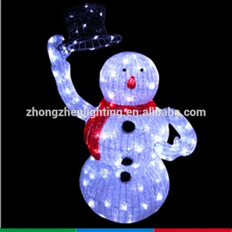 ce wholesale outdoor christmas light up standing snowman