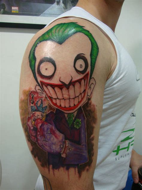 joker teeth tattoo big teeth joker cartoon on arm 1 tattoo tattoos book