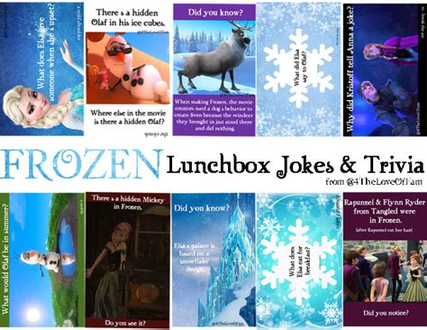 film frozen jokes frozen lunchbox jokes trivia free printable