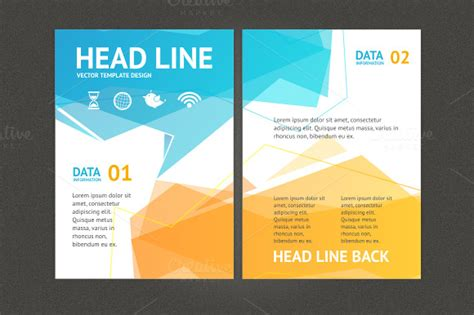 Geometric Bubble Speech Brochure Graphics On Creative Market Free Pdf Flyer Templates