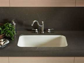undermount kitchen sink with faucet holes standard plumbing supply product kohler k 5832 5u g9