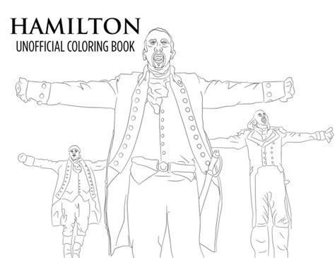 hamilton coloring book printable unofficial broadway