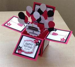 handmade card in a box unique birthday greeting card box card 3d greeting card in a box