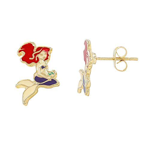 gold filled 18k earrings princess ariel