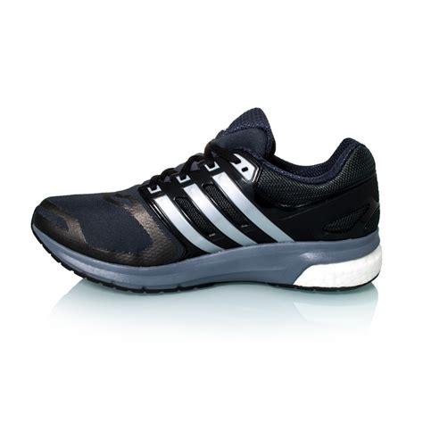 adidas questar boost techfit womens running shoes black silver metal grey
