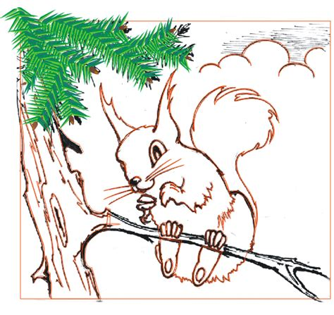tutorial line art vector corel draw x6 how to make a cheeky squirrel using corel draw x3