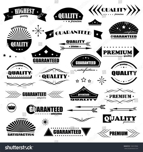 design elements style vintage design elements labels retro vintage stock vector