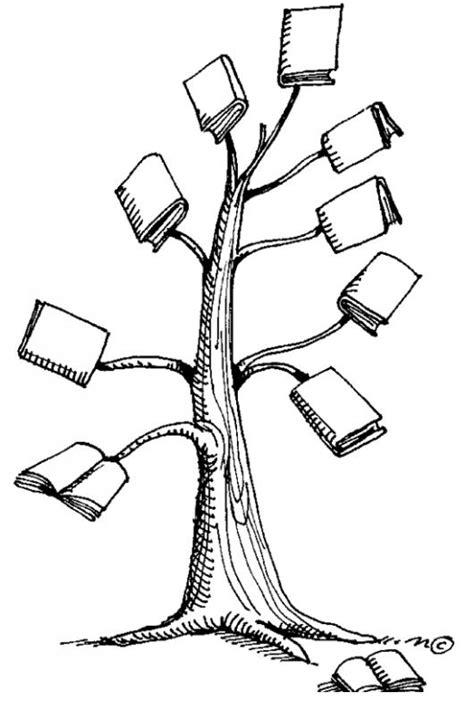 libros para colorear online arbol de libros para pintar y colorear arbol con hojas de