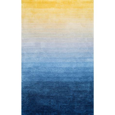 ombre area rugs nuloom ombre hertha shaggy navy 4 ft x 6 ft area rug hjos04a 406 the home depot