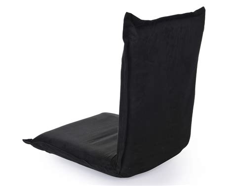 Omlove dharma reclining meditation chair with back support suede black omlove meditation chairs