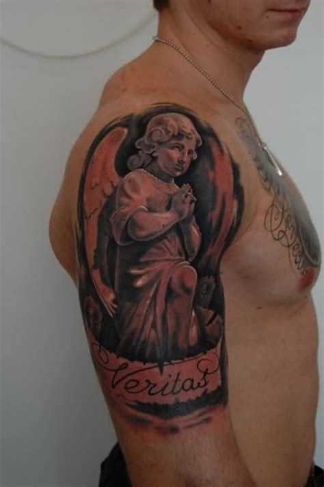 male angel tattoos 25 impressive praying designs and ideas