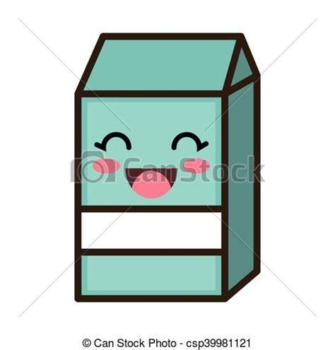 imagenes kawaii leche ilustraciones de vectores de kawaii caja caricatura