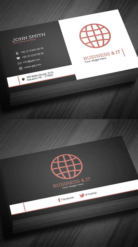 Free Business Cards Psd Templates Print Ready Design Freebies Graphic Design Junction Cards Free Templates