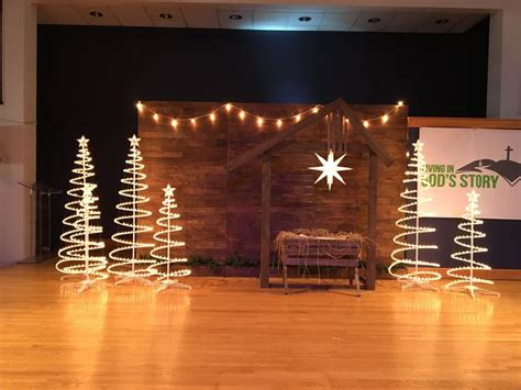 pretty christmas concert decorations stage cheap chritsmas