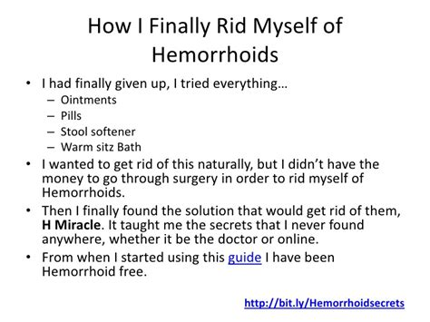 external hemorrhoids treatment