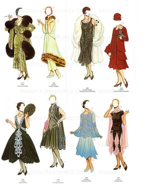 fashion doll printables flappers 1920s 1920s and flappers on